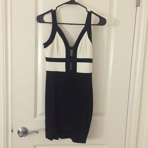 Plunge bodycon dress-S